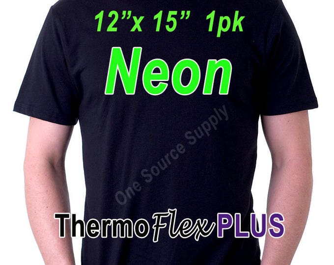 "12""x 15"" / 1-Sheet / ThermoFlex Plus Neon - Heat Transfer Vinyl - HTV"