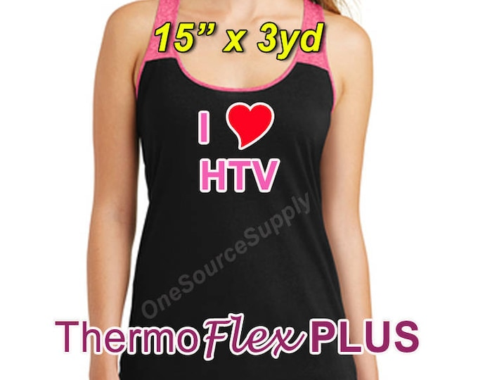 "15""x 3 yard / ThermoFlex Plus - Heat Transfer Vinyl - HTV"