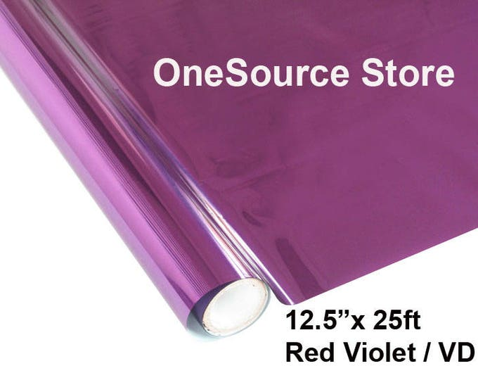 "HTV Textile Foil* / 12.5 ""x 25 ft / Red Violet / VD  -  Different process used - please read before ordering."