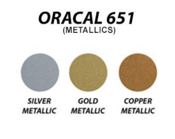 "24""x 50 Yard* Roll Oracal 651 Metallic Colors"