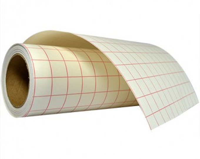 "12""x 5yd Transfer Tape / High Tack Paper / Red Grid"