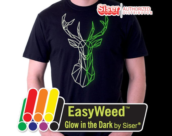"15""x 1 yard EasyWeed Glow In The Dark - Heat Transfer Vinyl - HTV"