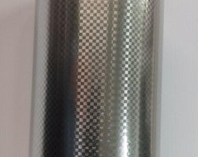 "24""x 1-yd  NEW / Silver Carbon Fiber Adhesive Back Vinyl"