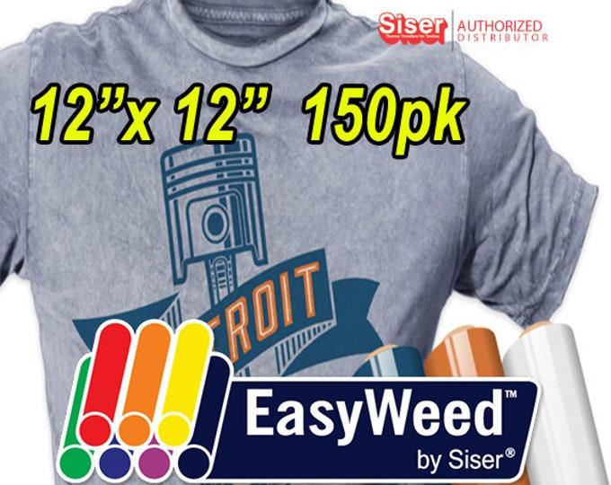 """12"""" x 12"""" / 150-sheets SISER EasyWeed HTV- Heat Transfer Vinyl"""