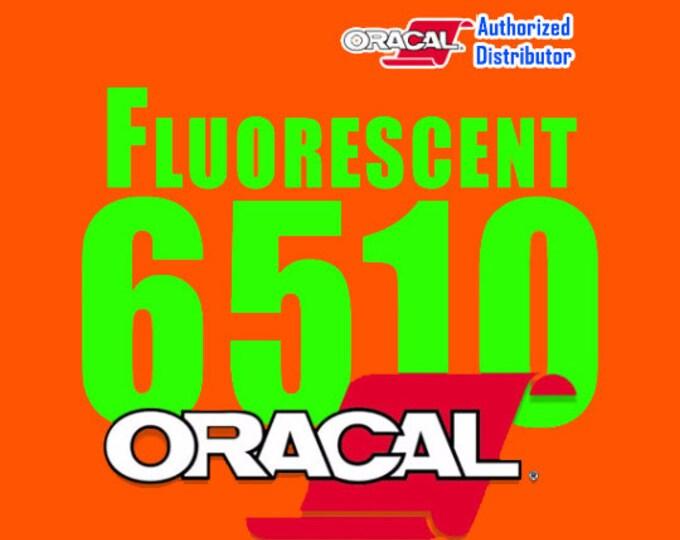 """5 Sheets 12"""" x 24"""" Oracal 6510 Fluorescent Vinyl"""