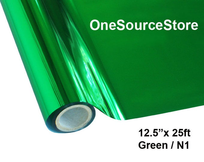 "HTV Textile Foil* / 12.5 ""x 25 ft / Green / N1 -  Different process used - please read before ordering."