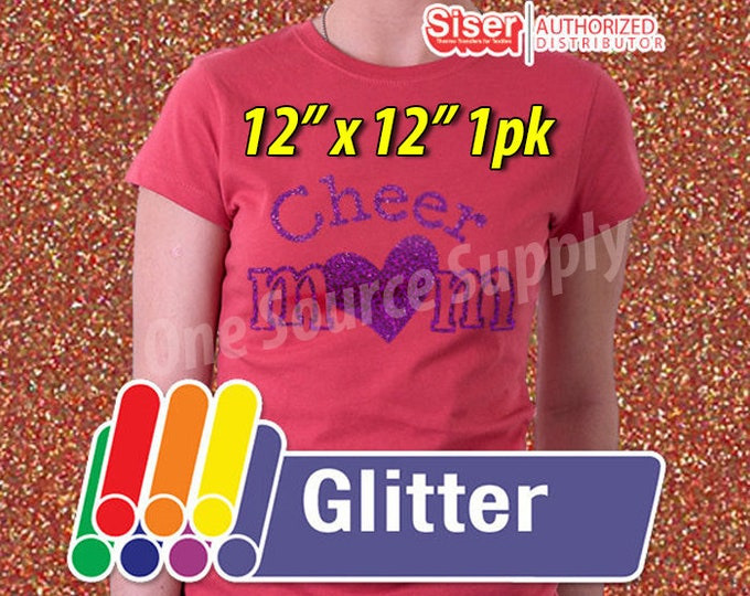 "12"" x 12"" / 1-sheet / Easyweed Glitter  / Combine for Shipping Discount - Heat Transfer Vinyl - HTV"