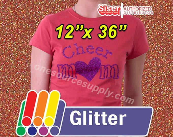 """12""""x 36"""" / 1-sheet / Easyweed Glitter / HTV"""