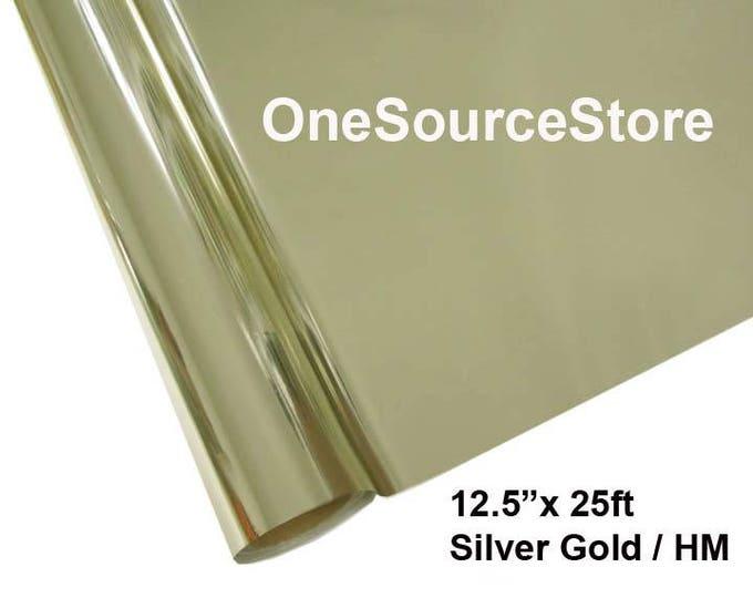 """HTV Textile Foil* / 12.5 """"x 25 ft / Silver Gold / HM"""
