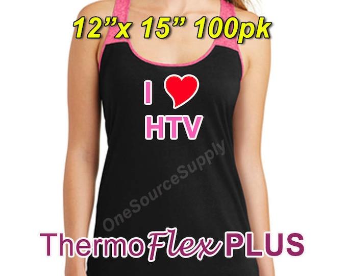 "12""x 15"" / 100-sheet / ThermoFlex Plus - Heat Transfer Vinyl - HTV"