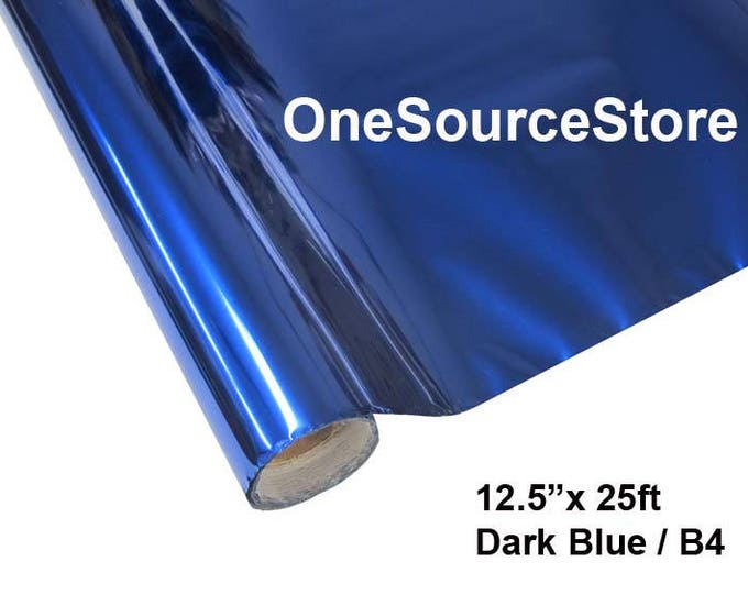 "HTV Textile Foil* / 12.5 ""x 25 ft / Dark Blue / B4  -  Different process used - please read before ordering."