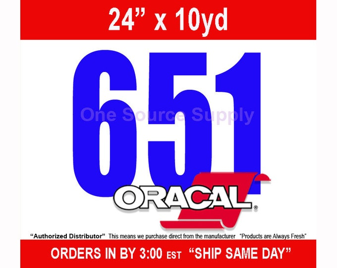 "24""x10 Yard* Roll Oracal 651 Gloss Finish Vinyl - Outdoor Vinyl - Craft Vinyl - Decal Vinyl"