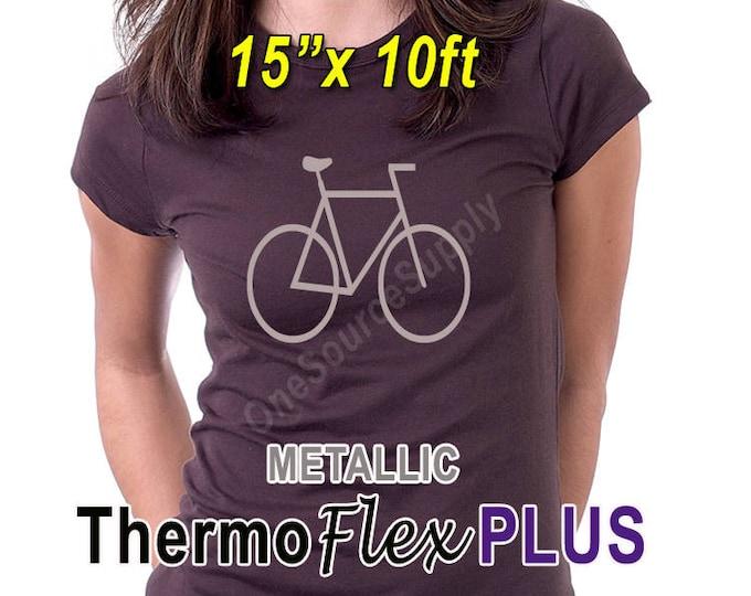 """15""""x 10ft / Metallic ThermoFlex Plus / HTV"""