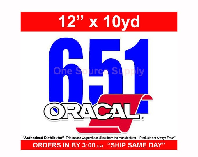 "12"" x 10yd / Oracal 651 Black or White - Craft Vinyl - PSV"