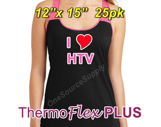"12""x 15"" / 25-sheet / ThermoFlex Plus - Heat Transfer Vinyl - HTV"