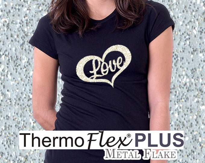 "15""x 24"" / 1-sheet / ThermoFlex Plus METAL FLAKE - Heat Transfer Vinyl - HTV"
