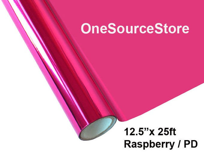 "HTV Textile Foil* / 12.5 ""x 25ft / Raspberry / PD"
