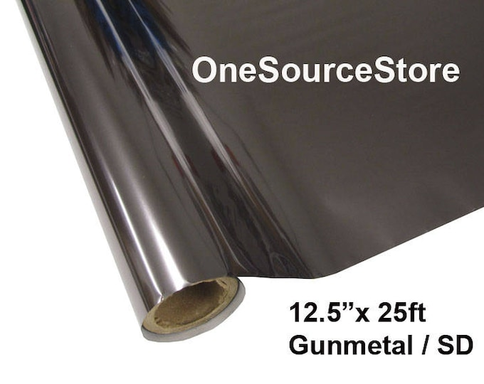 """HTV Textile Foil* / 12.5 """"x 25 ft / Gunmetal / SD -  Different process used - please read before ordering."""