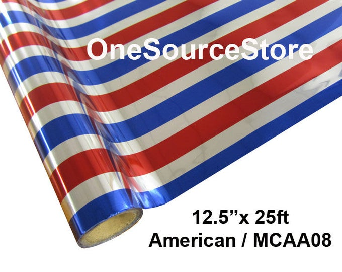 "HTV Textile Foil* / 12.5 ""x 25 ft / American / MCAA08  -  Different process used - please read before ordering."