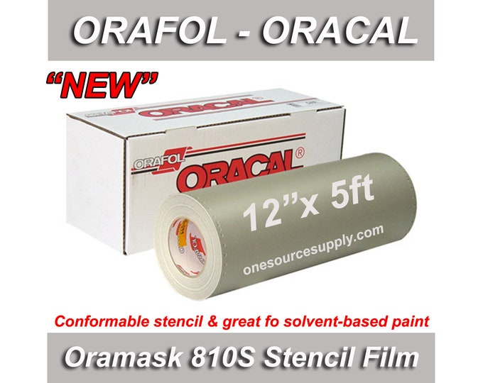 "1 ea / 12""x 5ft / Oracal 810S Oramask Stencil Vinyl"