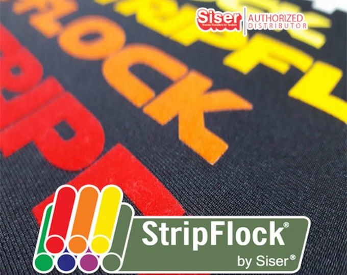 "12""x 15"" 1-sheet Siser STRIPFLOCK/Specialty Material Premium DECOFLOCK/Chemica UPPERFLOK heat transfer vinyl"