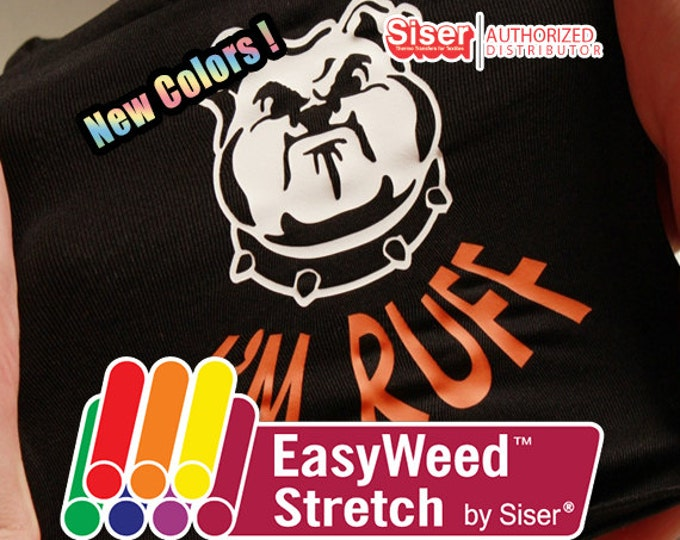 "15""*x 5ft / Siser EasyWeed STRETCH - Heat Transfer Vinyl - HTV"