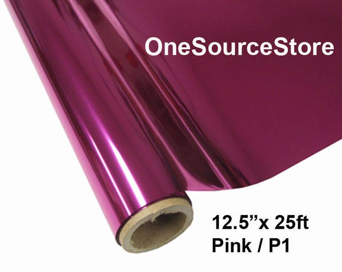 "HTV Textile Foil* / 12.5 ""x 25ft / Pink / P1  -  Different process used - please read before ordering."