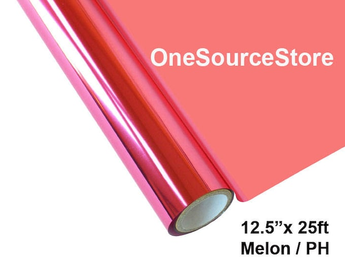 "HTV Textile Foil* / 12.5 ""x 25ft / Melon / PH -  Different process used - please read before ordering."