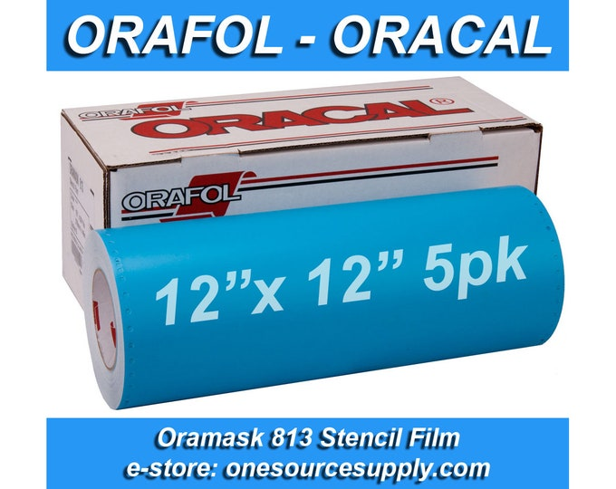 "5pk / 12""x 12"" Oracal 813 Oramask Stencil Vinyl"