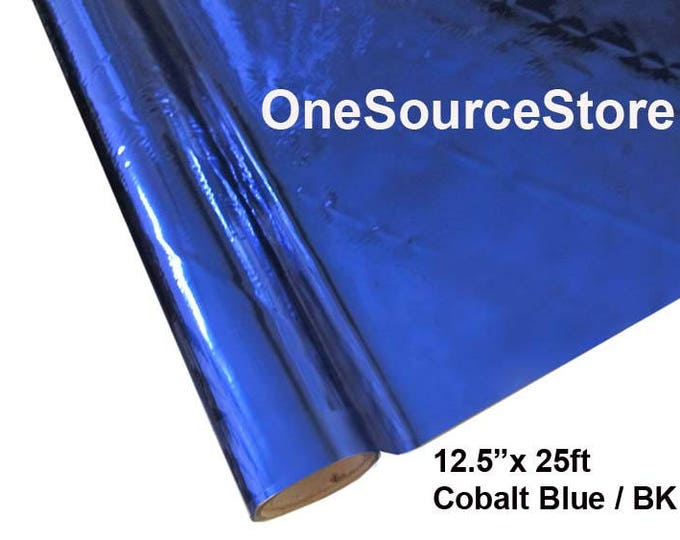 "HTV Textile Foil* / 12.5 ""x 25 ft / Cobalt Blue / BK  -  Different process used - please read before ordering."