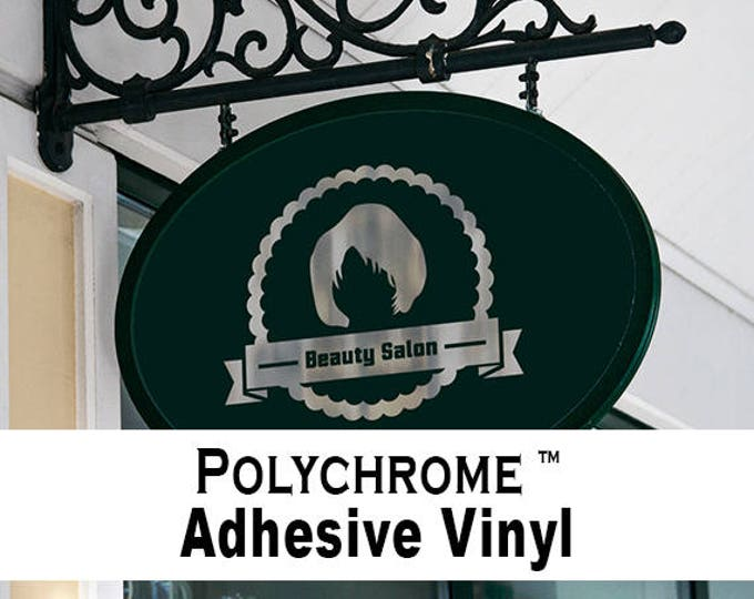 "1 Sheet 12"" x 24""  Silver Poly-Chrome Adhesive Back Vinyl"