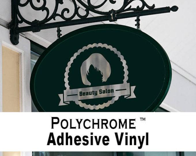 "1 Sheet 12"" x 5yd  Silver & Gold / Poly-Chrome Adhesive Back Vinyl"