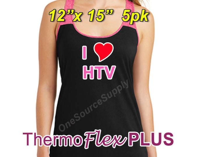 "12""x 15"" / 5-sheets / ThermoFlex Plus - Heat Transfer Vinyl - HTV"