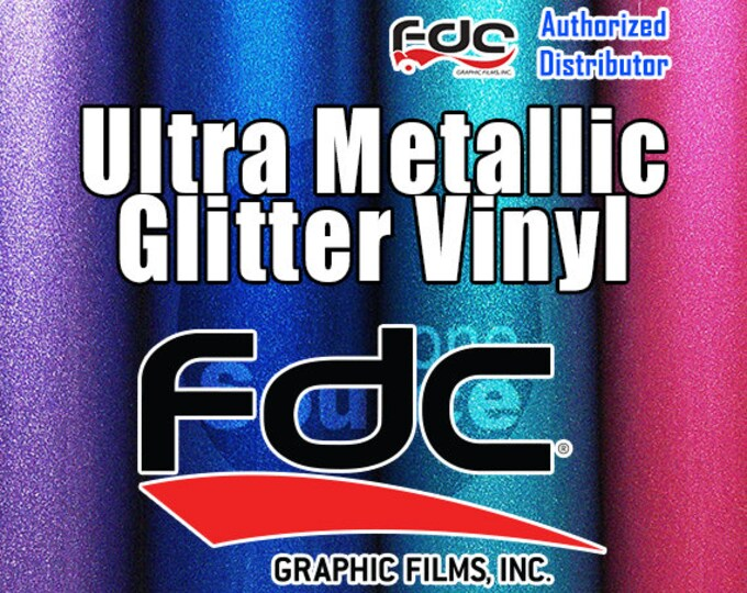 "5PK / 12""x 24"" / FDC® 3700 Premium Ultra Metallic Vinyl Film - While Supplies Last!"