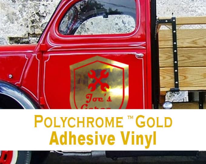 "1 Sheet 12"" x 24"" Polished Gold Adhesive Back Vinyl"