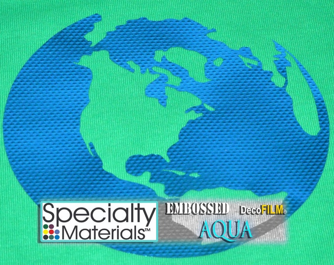 "Embossed DecoFilm  19.5""x1ft HTV,  Heat Transfer Vinyl - HTV - While Supplies Last!"