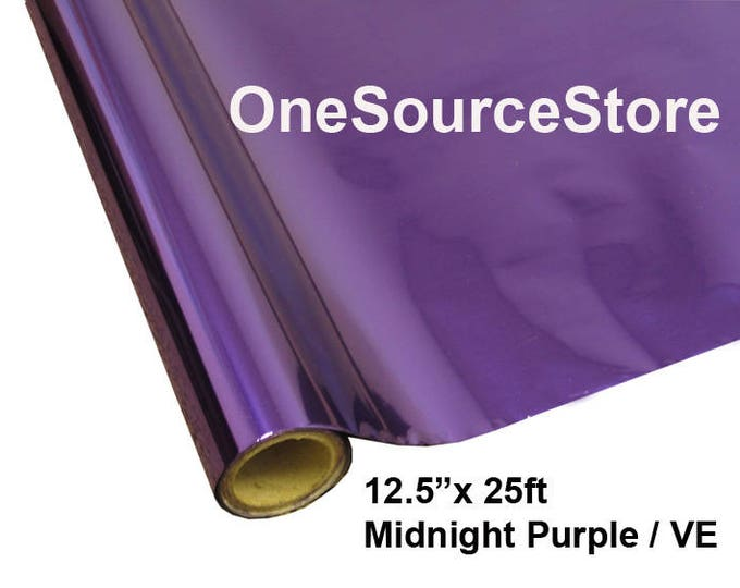 "HTV Textile Foil* / 12.5 ""x 25 ft / Midnight Purple / VE -  Different process used - please read before ordering."