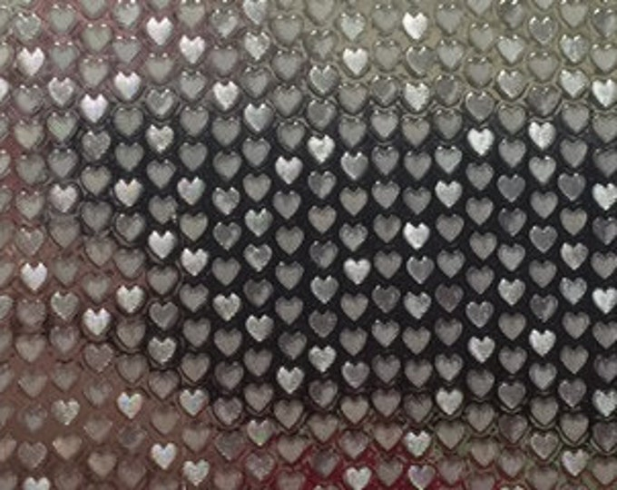 """12"""" x 24"""" NEW / Silver Twinkle Hearts Adhesive Back Vinyl"""