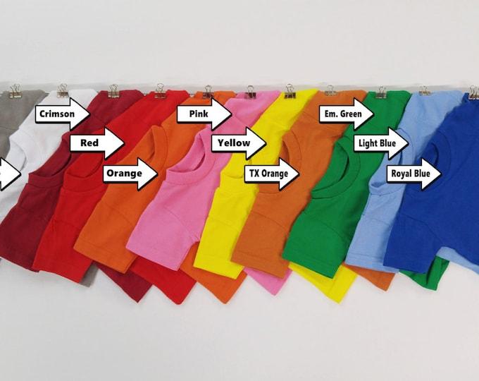 Mini T-shirts 100% cotton / qty. 6