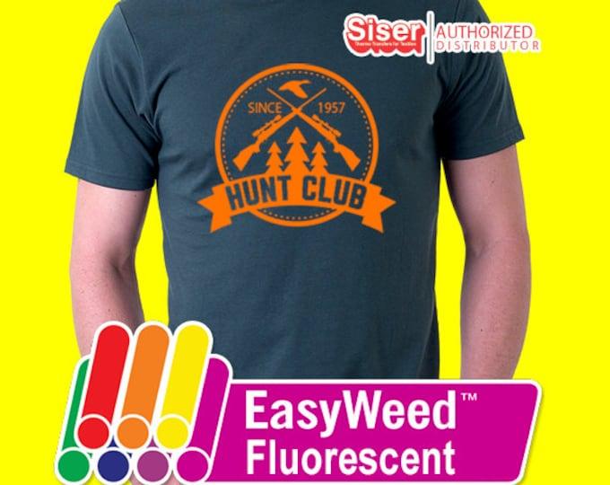 """9"""" x 15"""" / 5-sheets Siser Easyweed Fluorescent - Heat Transfer Vinyl - HTV - Neon"""