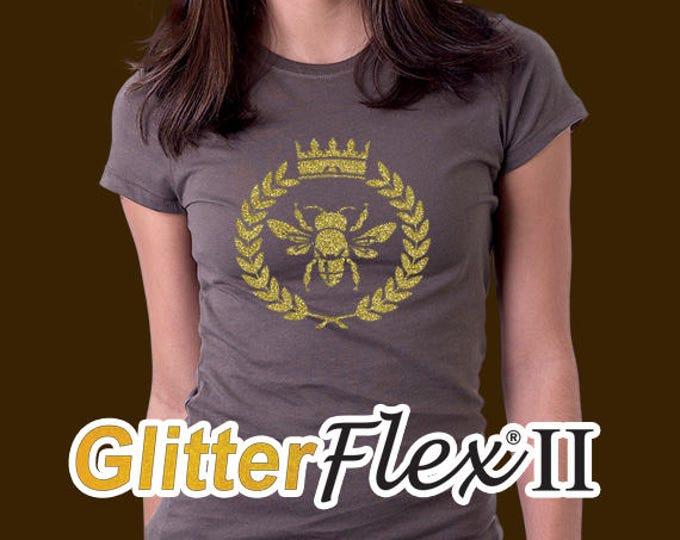 """19""""x 36"""" / 1-sheet  / **NEW** GlitterFlex II - Heat Transfer Vinyl - HTV"""