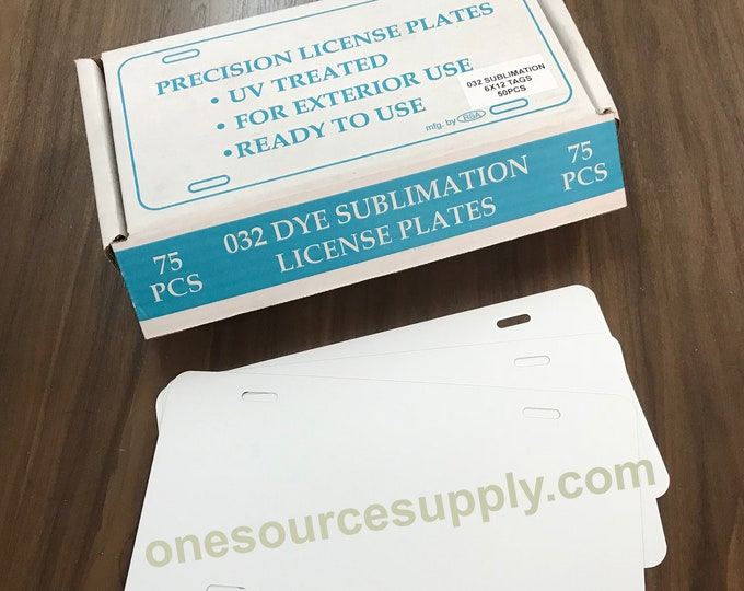 """1ea / .032 / Dye Sublimation License Plate Blank 6""""x12"""""""