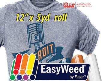 "12""x 5 yards Siser EasyWeed HTV- Heat Transfer Vinyl"
