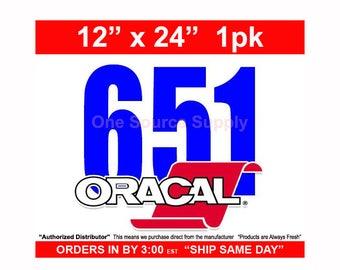 "12"" x 24""*/ 1-sheet / Oracal 651 - Orafol - Outdoor Vinyl - Craft Vinyl - Decal Vinyl"