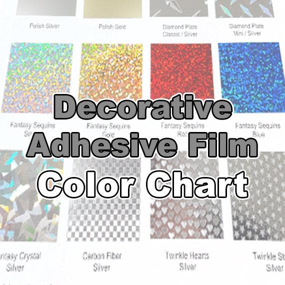 Decorative Vinyl Color Chart Only Etsy