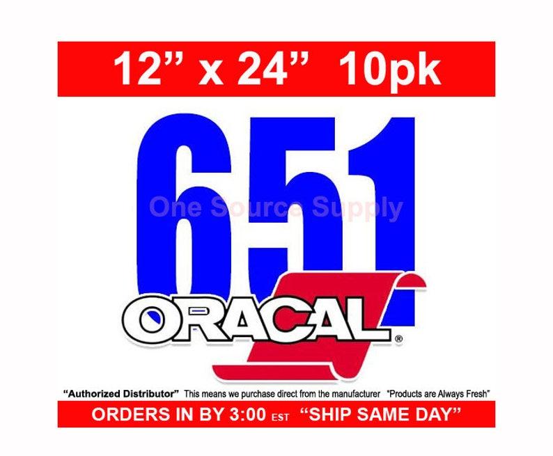 "12""x 24""* / 10-sheets / Oracal 651 Gloss Finish Vinyl - Outdoor Vinyl - Craft Vinyl - Vinyl photo"