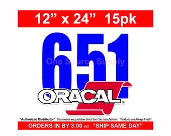 "15 Sheets 12"" x 24"" Oracal 651 Gloss Finish Vinyl - Outdoor Vinyl - Craft Vinyl - Decal Vinyl"