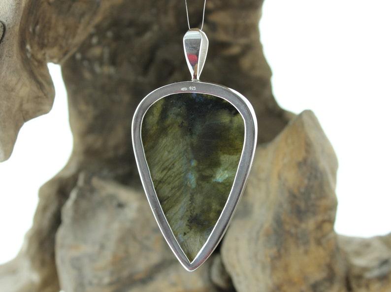 Blue Labradorite pendant. Labradorite necklace labradorite and silver pendant Natural stone Pendant with Labradorite Silver pendant