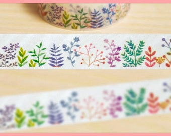 Plants and shrubs Washi tape, sticky tape, paper tape, BUJO, bullet journal accessories, scrapbook masking tape, planner adhesive tape -ST09