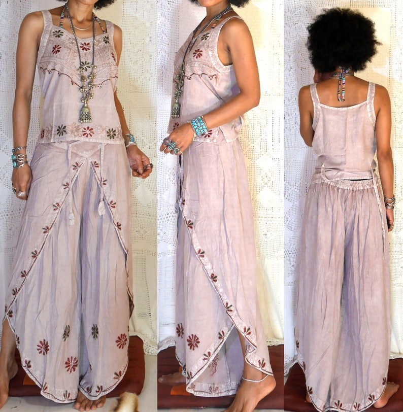 61ca491488 Ethnic Indian Embroidered harem yoga hippie boho gypsy belly | Etsy